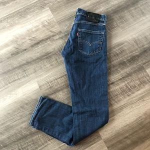 Levi's Dark Wash 511 Slim Straight Jeans 29x32